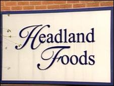 Headland Food company sign