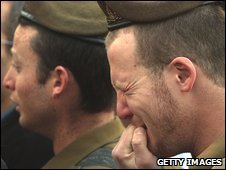 Israeli soldiers mourn their colleague Nitai Stern