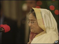 Sheikh Hasina takes the oath of office