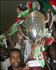 Sudan celebrate winning the Cecafa Cup in 2007