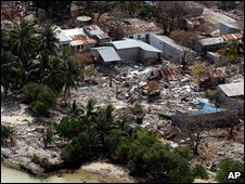 Tsunami damage of 2005 in the Maldives