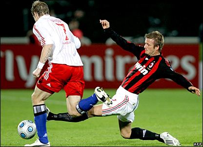 David Beckham tackles Marcell Jansen