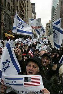 Manifestaci�n a favor de Israel en Nueva York