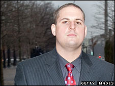 Former Blackwater security guard Donald Ball leaves court, Washington DC, 6  January, 2009