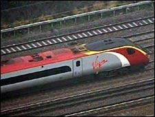Stranded train in London
