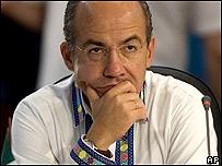 Felipe Calderón, presidente de México.