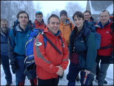 Scouts and Mountain Rescue team