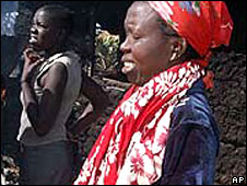Mourner at the Eldoret church in Kenya