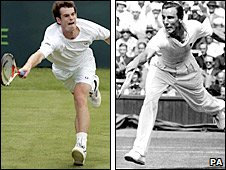 Andy Murray (left) and Fred Perry