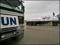 Автомобиль ООН в Газе
