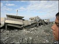 Разрушенные здания в Газе