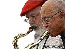 Don Weller and Art Themen  Photo: Roy Edwards