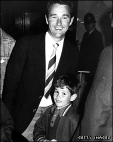 Brian Clough with son Nigel during his days as Derby manager