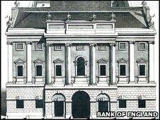 Bank of England engraving, 1734