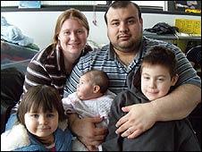 Kimberly Rivera and her family (picture from War Resisters Support Campaign)