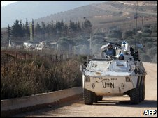 UN peacekeeps on Israel-Lebanon border