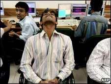 Indian stock broker sees shares fall on the Satyam news