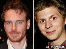 Michael Fassbender and Michael Cera