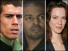Toby Kebbell, Noel Clarke and Rebecca Hall
