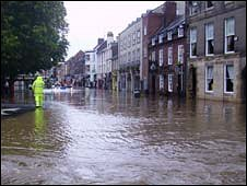 Flooding in Morpeth (pic: Iain Ogilvie)