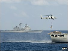 US navy ships off coast of Somalia - 3/12/2008