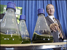 The biofuel's developers showcased its algal origins
