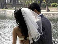 A couple wed in Hanoi
