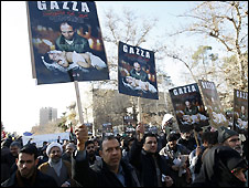 Anti-Gaza conflict demonstration in Tehran - 2/1/2009