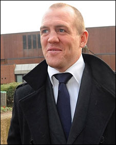 Mike Tindall leaving Thursday's hearing