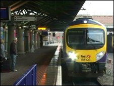 Train at airport station
