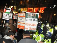 Demonstration against the attacks on Gaza