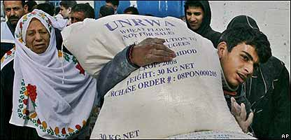Entrega de alimentos en la ONU