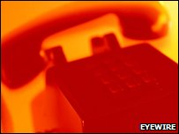 Red telephone ringing