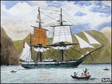 HMS Beagle engraving (SPL)