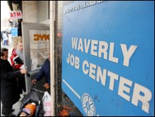 A job centre in New York in the US