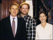 Jeff Haessler with George and Laura Bush