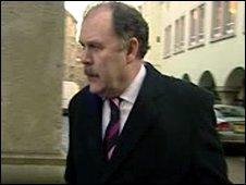 Elfyn Llwyd arriving at court