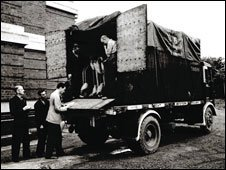 Some of the masterpieces arriving at the national library during WWII (picture: National Library of Wales)