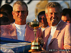 Sandy Lyle (left) and Colin Montgomerie