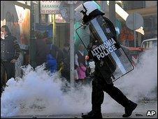 Riot police in Thessaloniki
