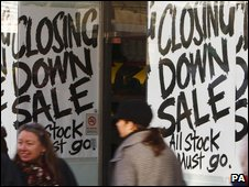 Closing down sale signs