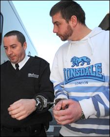Darren Monkton (right) with a prison officer
