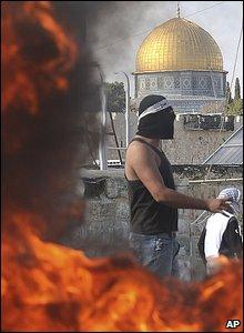 Palestinian youths in East Jerusalem's Old City