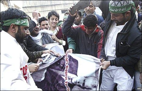Muslim protesters in Jammu, India