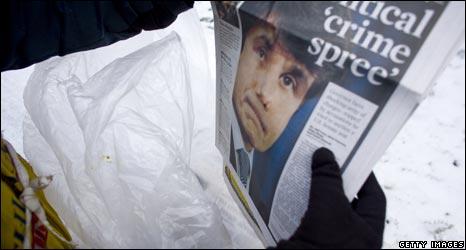 "Newspaper headlined ""A political crime spree"""