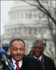 Illinois U.S. Senate appointee Roland Burris after leaving the Capitol Building