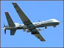 Archive image of a US 'Hunter-Killer' drone, the MQ-9 Reaper, which has been deployed in Afghanistan
