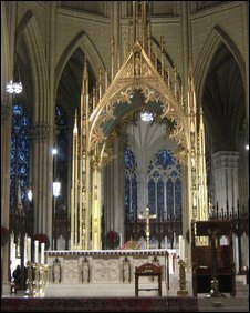 Altar at St. Patrick's cathdral