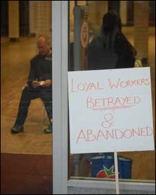 Woolworths' staff protest