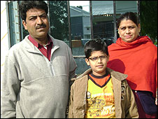 Aman Rehman and his parents